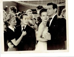 "Genevieve Grazis and Johnny Duncan dance next to Gale Storm and Robert Lowrey in ""Campus Rhythm"" 1943"